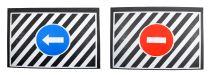 Lapače nečistot-zástěrky se značkami, 2ks, 50x35