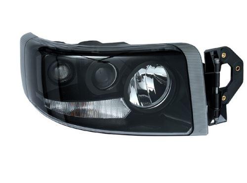 Hlavní světlomet Renault Premium od 2005 černý, pravý