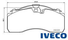 Brzdové doštičky IVECO 29095/29320