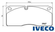 Brzdové doštičky Iveco Eurocargo 29067