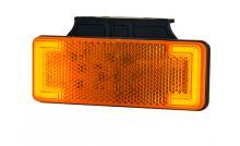 Poziční světlo Horpol LKD 2515, oranžové s blikačem a držákem
