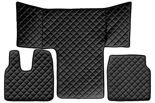 Kožené koberce MAN TGL / TGM / TGS, čierne