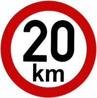 Samolepka - rýchlosť 20 km / h