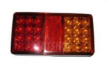 Koncové svetlo LED obdĺžnik, 12 / 24V, L / P