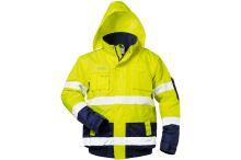 Reflexní bunda nepromokavá, žlutá