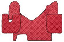 Kožené koberce Iveco Stralis Hi-Way, automat, červené
