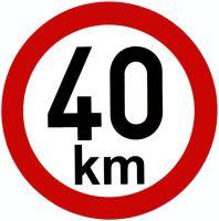 Samolepka - rychlost 40 km/h