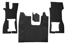Kožené koberce Scania R od 2016 - spolujezdec pevná sedačka, černé