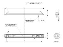 Poziční světlo 25cm LED bílé