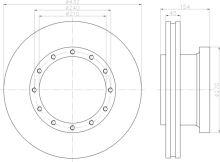 Brzdový kotouč Iveco Stralis s kroužkem ABS