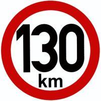 Samolepka - rychlost 130km/h