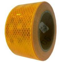 Reflexná páska pre pevný podklad, žltá 1m