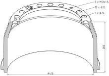 Brzdový bubon MAN / Mercedes 410x180 - zadné