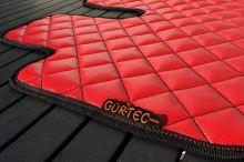 Kožená podlaha Gür-Tec pro Iveco Stralis, automat, červená