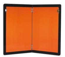 Tabuľa ADR - sklopná s lemom, oranžová