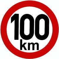 Samolepka - rychlost 100km/h