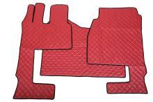 Kožené koberce MB Actros MP4 automat, sklopná sedačka, červené