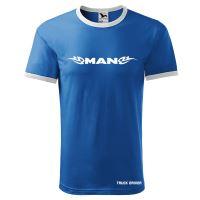 Tričko s lemem MAN, modré