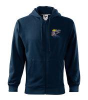 Mikina s kapucí SCANIA, zip, modrá