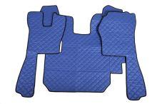 Kožené koberce Scania R do 2010, manual, modré