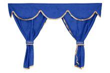 Sada záclon Classic UNI, 5v1, modré