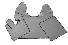 Kožené koberce DAF XF105, manual, sivé