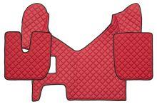 Kožené koberce Iveco Stralis Hi-Way, manual, červené