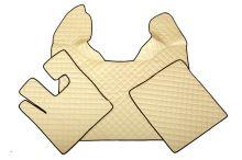 Kožené koberce DAF XF105 do 2012, automat, béžovej