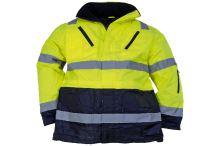 Reflexní bunda zimní, žlutá