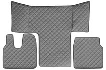 Kožené koberce MAN TGL / TGM /TGS, šedé