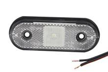 Vložka pozičného svetla LED Uni-Point, biela s káblom