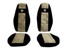 Autopoťahy Volvo FH 2008->, pásy na sedačkách, béžovej