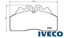 Brzdové doštičky Iveco Eurocargo 29256