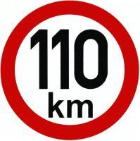 Samolepka - rychlost 110km/h