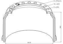 Brzdový buben MAN 410x220 - zadní