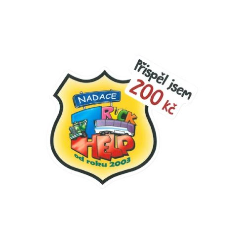 Samolepka Truck HELP 200