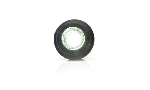 Pozičné svetlo LED 12 / 24V biele, zapustené