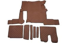 Kožené koberce MAN TGX - manual, 1 šuplík, hnědé
