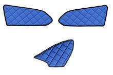 Koženkové polstrování interiéru MB Actros MP4, modré
