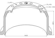 Brzdový buben DAF 420x200 - zadní