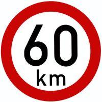 Samolepka - rychlost 60 km/h