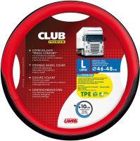 Potah volantu Lampa Club 46-48 cm, černý-červený