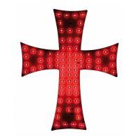 Svítící kříž do kamionu LED, červený