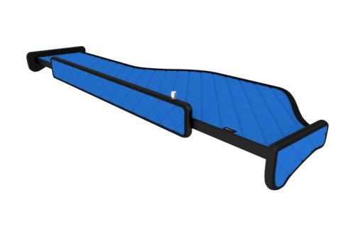 Polička dlhá DAF 106, LED, modrá koženka