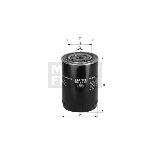 Olejový filtr MANN W1160/2