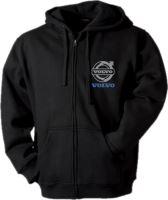 Mikina s kapucí VOLVO, černá, dlouhý zip, výšivka