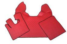 Kožené koberce DAF XF105, manual, červené