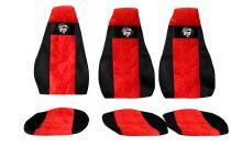 Autopoťahy MAN TGL 3 sedačky, červené