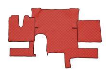 Kožené koberce MAN TGX - automat, 1 šuplík, červené