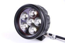 Pracovní světlomet 6 LED, kulatý